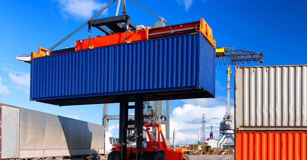 Conteneur transport commercial