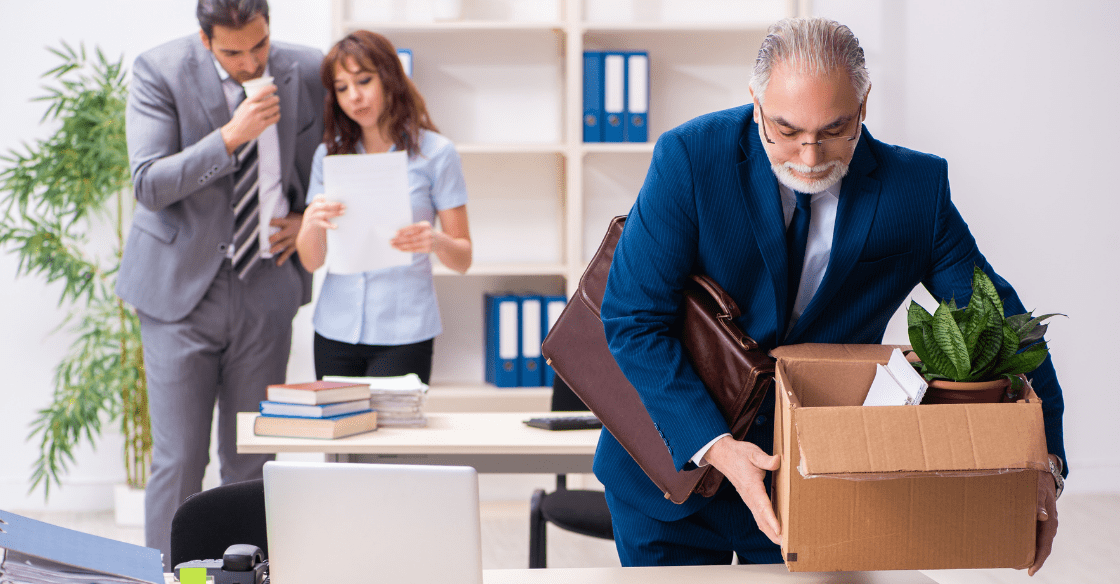 Employees unpacking boxes after their business relocated.